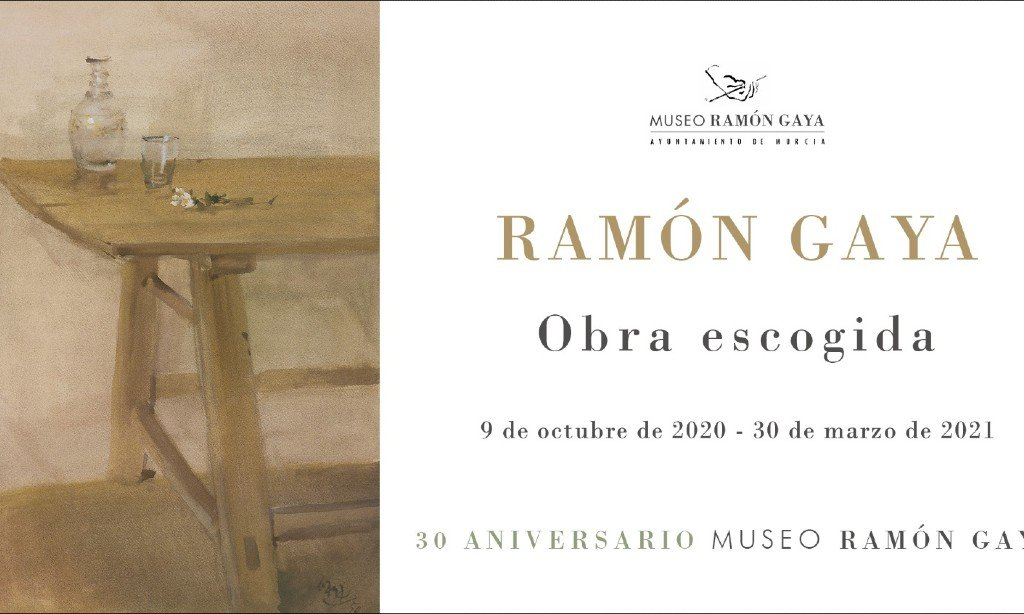 Tarjeta de invitación de la exposición del 30 aniversario del Museo Ramón Gaya